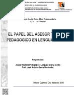 El Papel Del Asesor Tecnico Pedagogico en Lenguaje Oral y Escrito