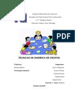 Tecnicas de Dinamica de Grupo