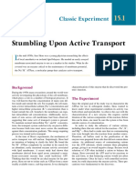 Stumbling Upon Active Transport