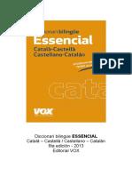 Diccionari bilingüe ESSENCIAL