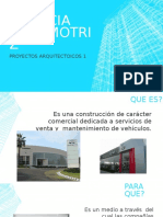 AGENCIA AUTOMOTRIZ. Programa Arquitectónico