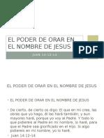 Poder de Orar en El Nombre de Jesus