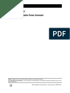 Nellcor N-20 Pulse Oximeter - Service Manual | Electronic