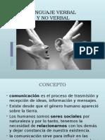 1. Lenguaje Verbal y No Verbal