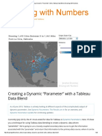 "Creating a Dynamic ""Parameter"" With a Tableau Data Blend"
