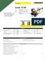 Idropulitrice a freddo Karcher HD 1050 B Honda 13 HP