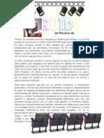 """Apreciación Cultural de la obra de teatro """"Ruido"""""""