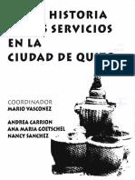 breve historia de los servicios en Quito