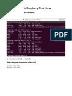Backup MicroSD Raspberry Pi en Linux