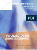 User Manual Froone Desk 2015