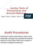 Substantive Tests of Transactions and Account Balances Edited