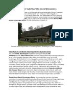 Rumah Adat Sumatra Utara Dan Keterangannya