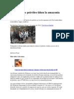 Derrame de Petroleo Amazonia Peruana