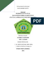Manajemen Mutu-Pendekatan Factual Dalam Pengambilan Keputusan-Sandri Yaningsih