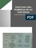 Dosis Dan Cara Pemberian MP-ASI Yang Benar