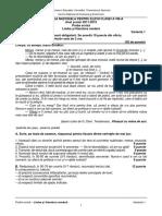 Evaluare Nationala La Limba Si Literatura Romanasesiunea Speciala (1)