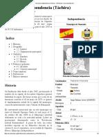 Municipio Independencia (Táchira) - Wikipedia, la enciclopedia libre.pdf