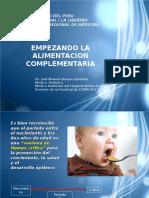 Empezando La Alimentacion Complementaria Cmp 2012