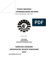 Teori Pembangunan Wilayah