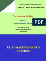 UNIDAD 5 - ALMACENAMIENTO EXTERNO