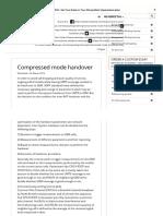 Compressed Mode Handover