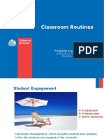 Classroom Routines and Lesson Plan
