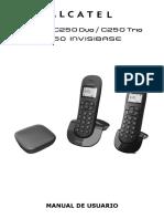 Alcatel Phones C250 C250 Invisibase Manual Usuario SP