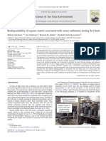 Biodegradability of Organic Matter Associated With Sewer Sediments During First Flush