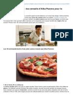 Conseils DAlba Pezone Reussir Pizza