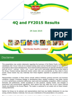 Del Monte Pacific 4 Quarter 2015 Presentation Final