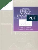 Editable Digital Signal Processing Principles Algorithms and Applications Third Edition