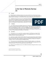 REC 42 Guidelines for Use of Remote Survey Techniques 2004