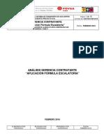 Informe de Fórmula Escalatoria Para Recpnsideraciones de Precios Aplicable a La Estatal Pdvsa Con Sus Basamentos Legales