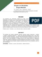 Drogas con alcaloides-Extraccion de cocaínas