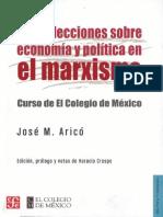 Aricó Nueve lecciones sobre economia y politica en el marxismo