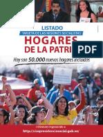 Listado de Tarjetas de Misiones Socialistas