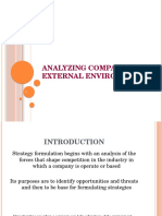 Ch 03 -Analyzing the Company's External Environment