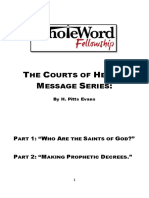 Booklet the Courts of Heaven Parts I and II
