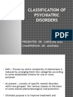 Classification of Psychiatric Disorders