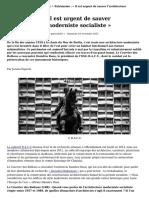 Patrimoine_il Est Urgent de Sauver l'Architecture Moderniste Socialiste