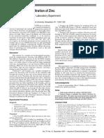 Complexometric Titration of Zinc 2