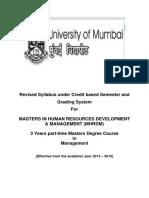 4.29 Masters in Human Resources Development Management (MHRDM)