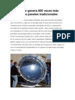 Globo Solar Genera 400 Veces Más Energía Que Paneles Tradicionales