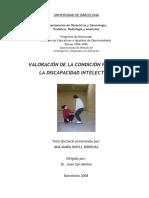 Tesis Doctoral - VALORACIÓN DE LA CONDICIÓN FÍSICA EN LA DISCAPACIDAD INTELECTUAL. ANA MARÍA BOFILL RÓDENAS