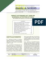 Impact of Finance Act 2008 On