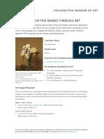 Exploring Our Five Senses Through Art Preschool