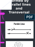 Angles Formed by Parallel Lines and Transversal