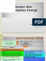 Perencanaan Dan Pengendalian Energi