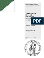 Verification of Network Simulators