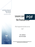 Lessons Learned from the Financial Crisis